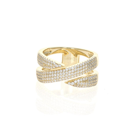 Gold Pointed Coil Ring