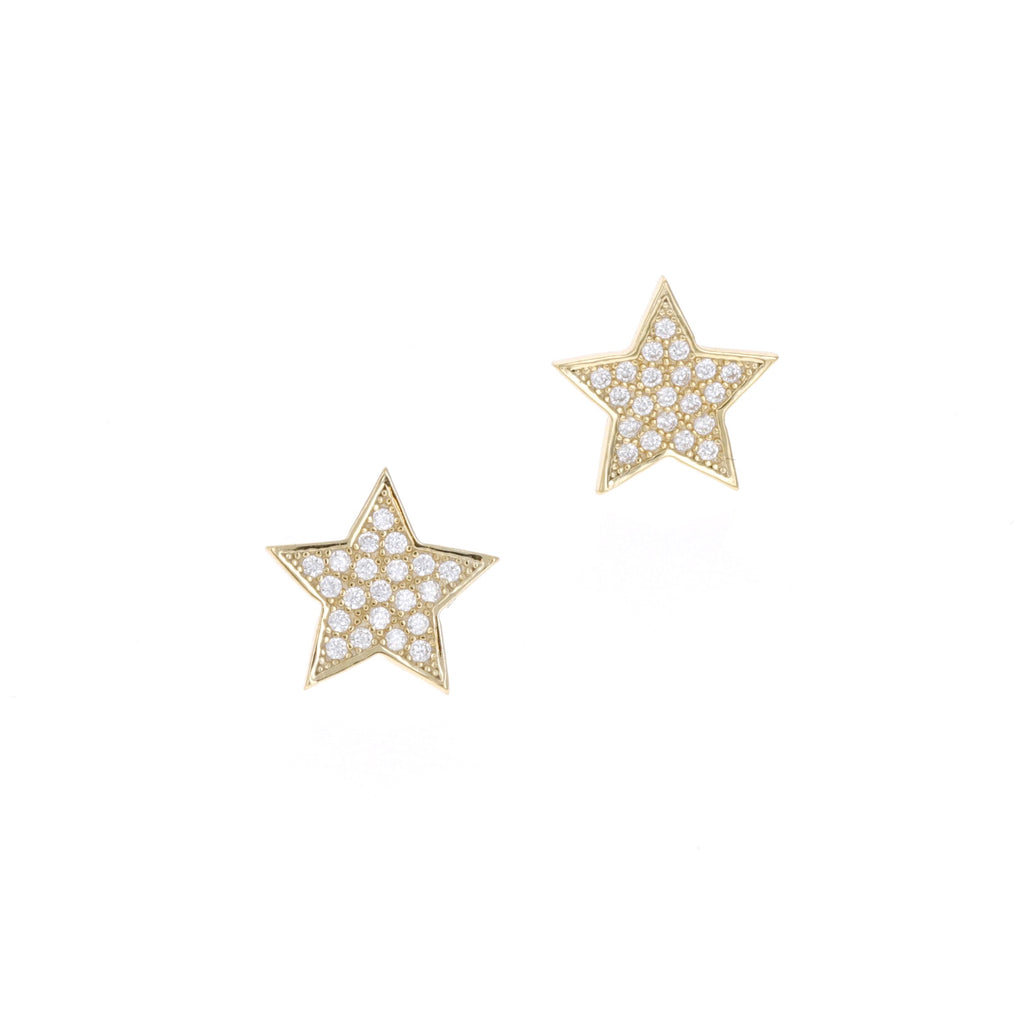 Shiny Star Stud Earrings