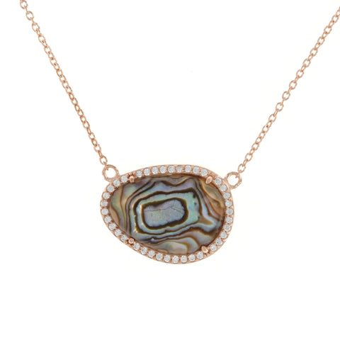 Abalone Doublet Rose Necklace