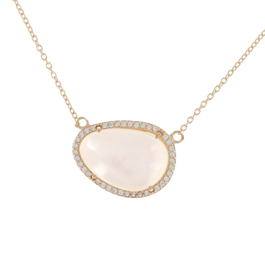 Mother Of Pearl Doublet Necklace
