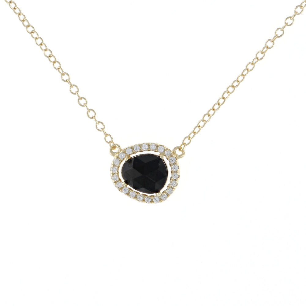 Load image into Gallery viewer, Free Form Onyx Necklace