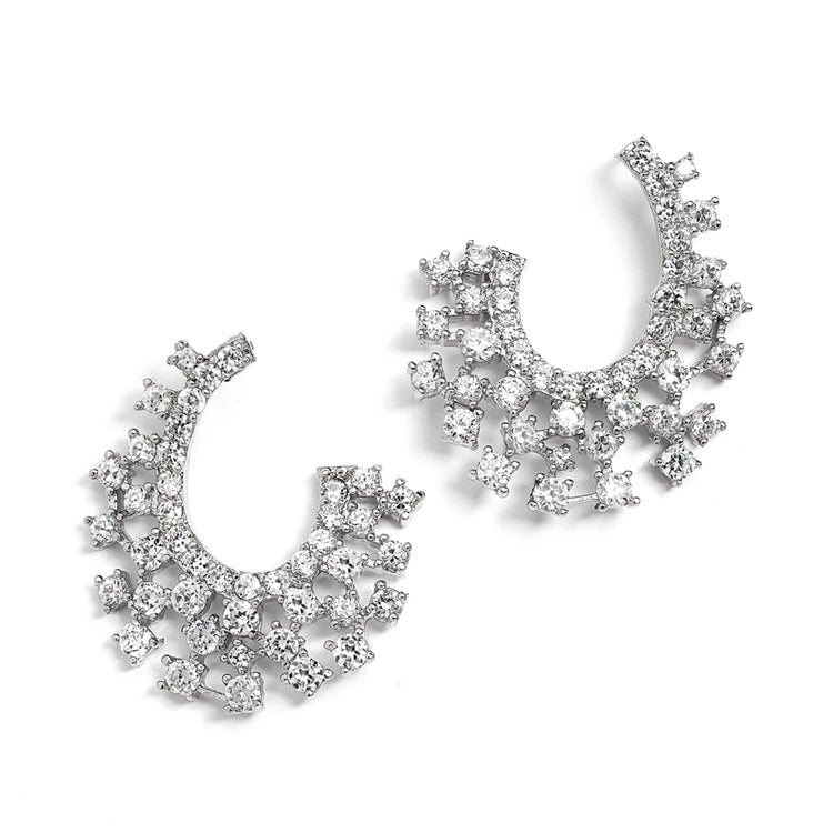 Curved Hollywood Earrings