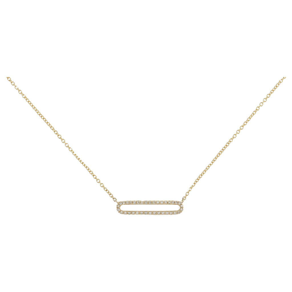 Diamond Open Bar Necklace