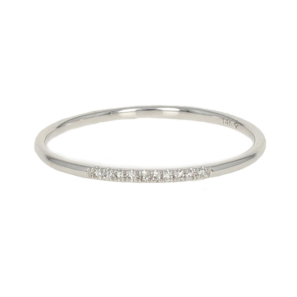 Extra Thin Diamond Ring