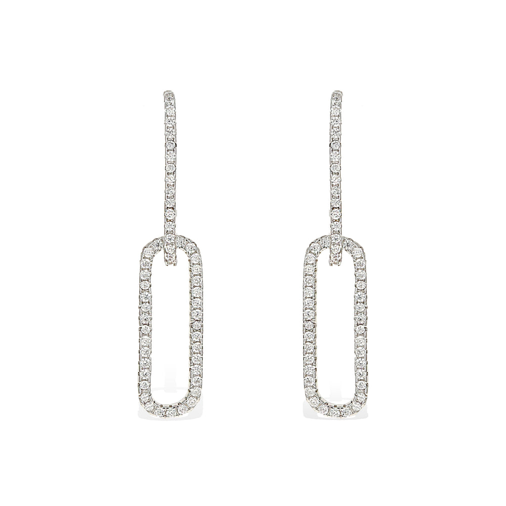 Load image into Gallery viewer, Oval Link Earrings