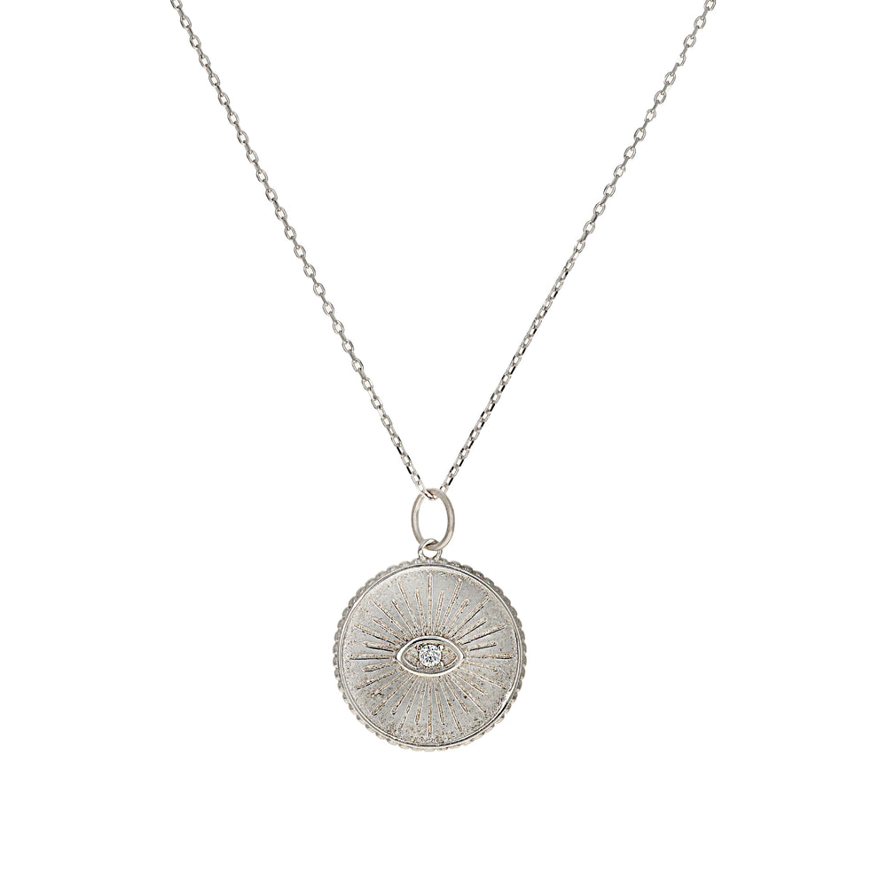 Alexandra Marks | vintage evil eye charm necklace in sterling silver