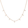 Diamond Bar Station Rose Necklace