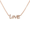 Diamond Love Letter Rose Necklace