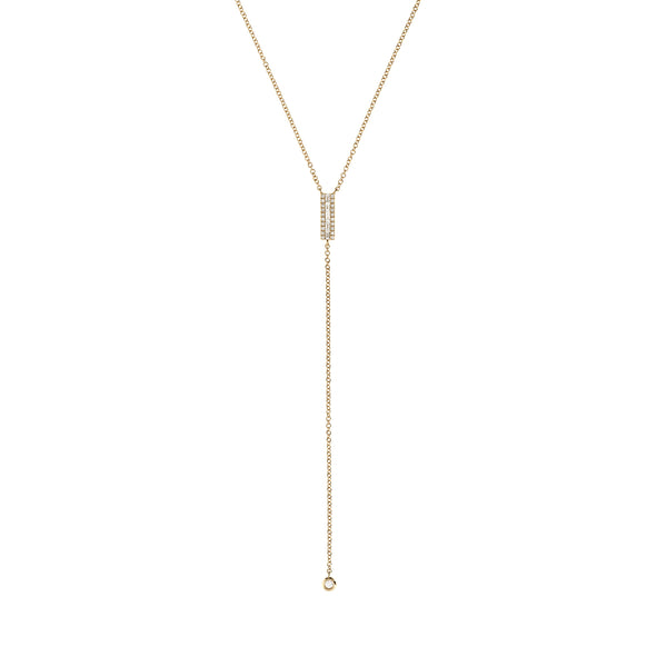 Diamond Baguette Gold Y-Necklace