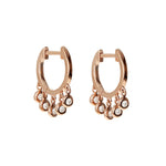 Alexandra Marks Diamond Charm Huggie Hoop Earrings
