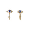 Diamond Evil Eye Gold Earrings