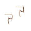 Pointed Diamond Double Bar Earrings