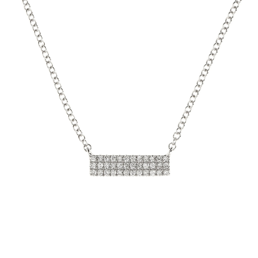 Diamond Triple Row Bar Necklace