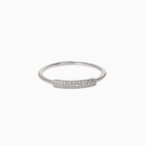 Diamond Wrapped Bar Ring