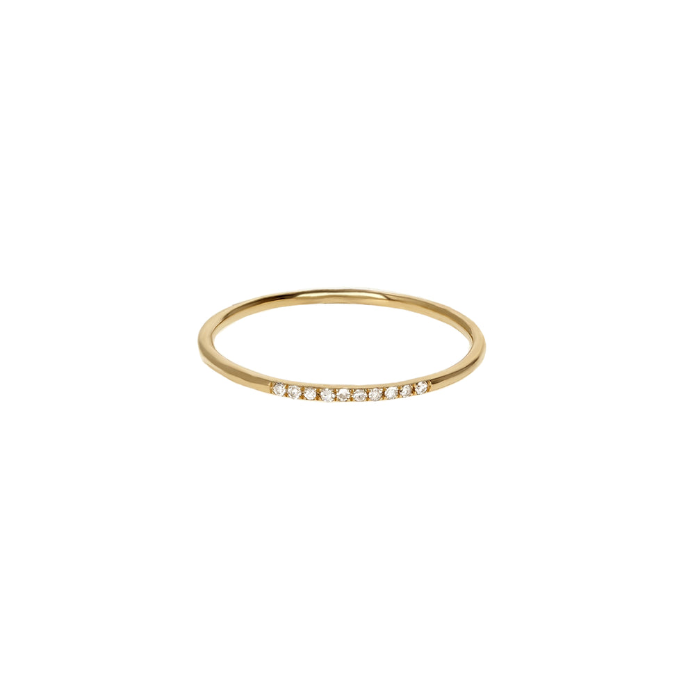 Thin Diamond & Gold Ring