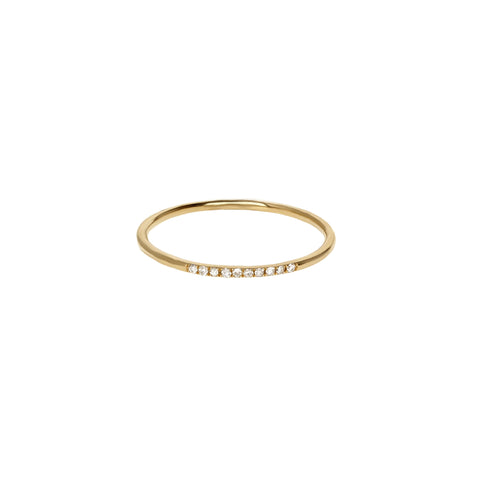 Diamond Extra Thin Gold Ring