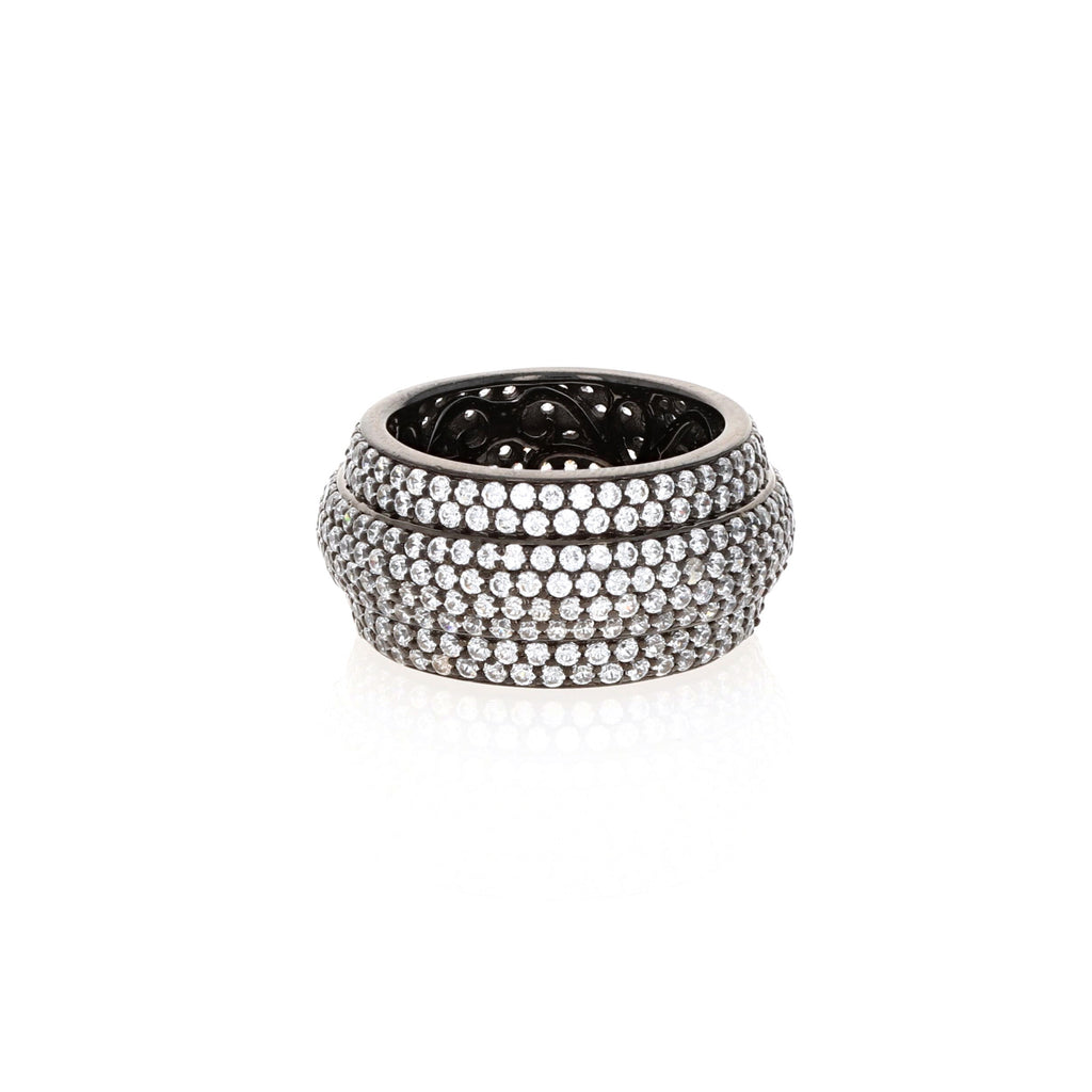 Midnight Triple Row Eternity Band