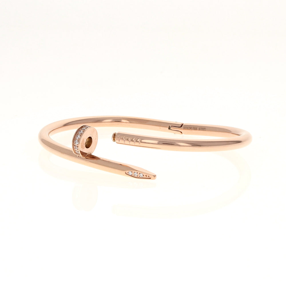 Load image into Gallery viewer, Rose & Cz Nail Bracelet