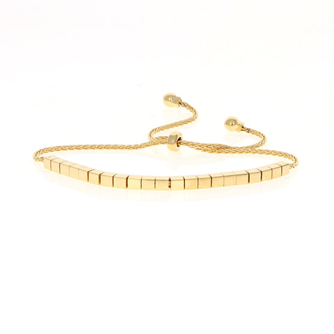 Gold Shiny Square Bracelet