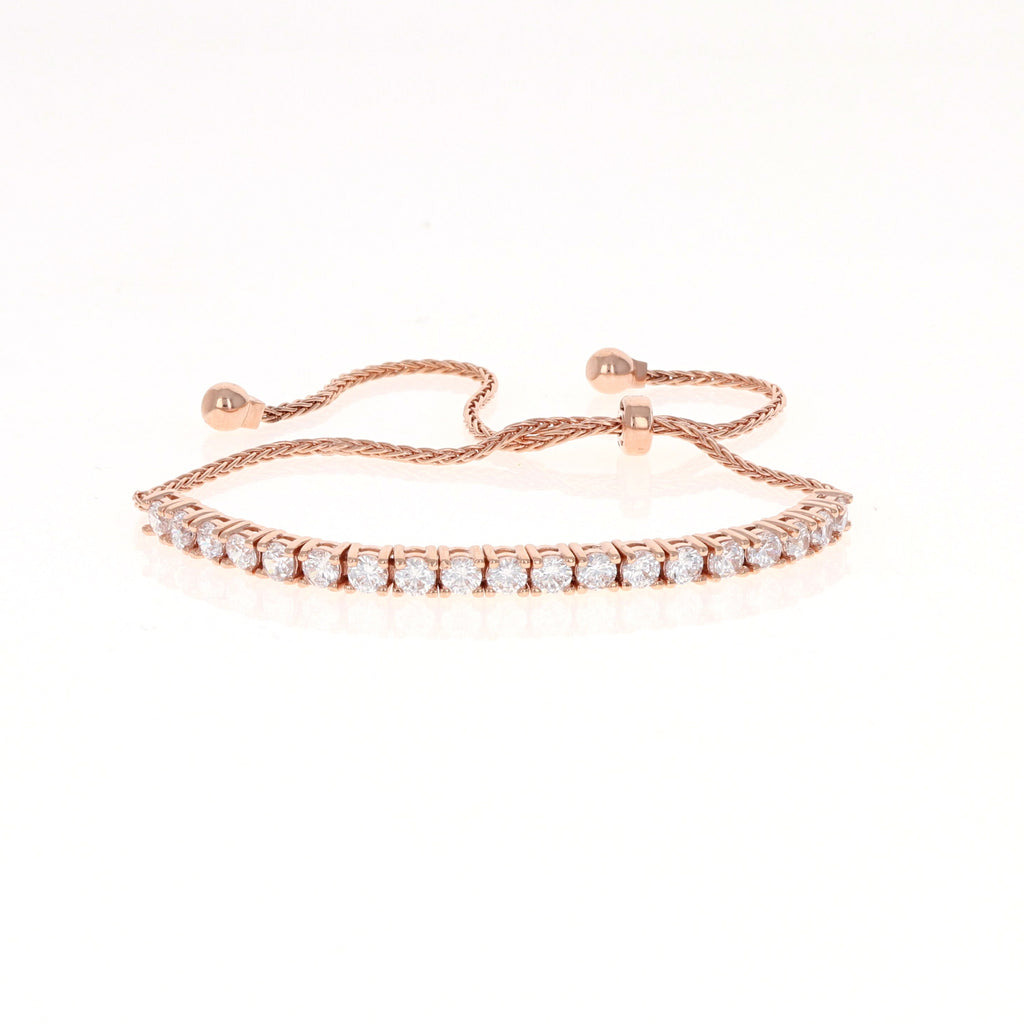 Rose Drawstring Tennis Bracelet