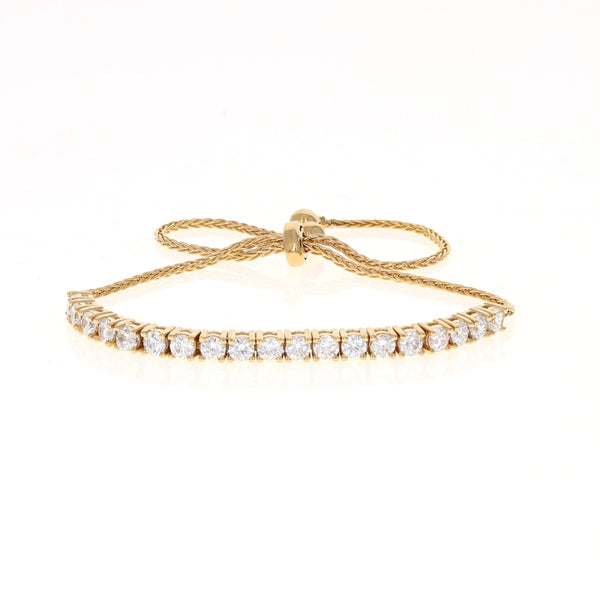 Golden Drawstring Tennis Bracelet