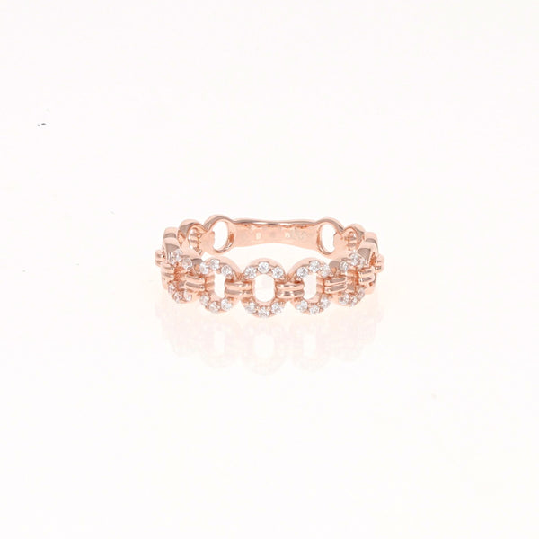 Rose Oval Eternity Ring