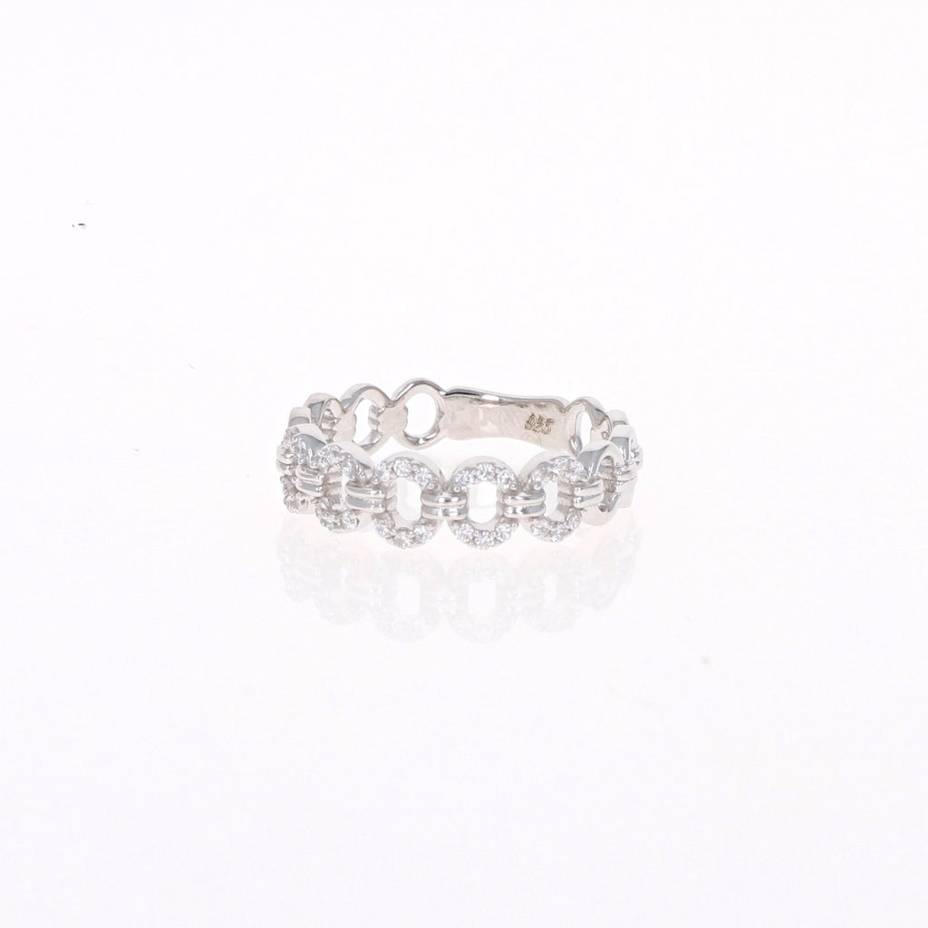 Silver Oval Eternity Ring