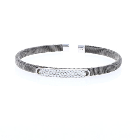 Squared Away Gunmetal Cable Bracelet