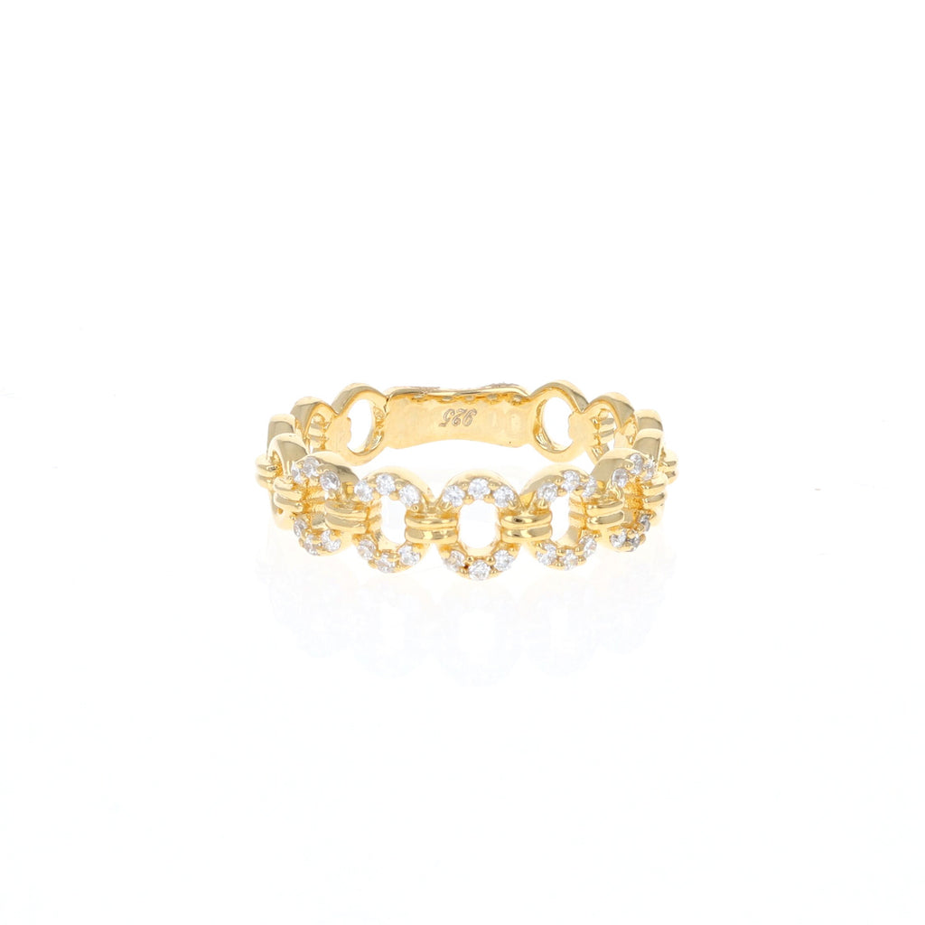 Golden Oval Eternity Ring