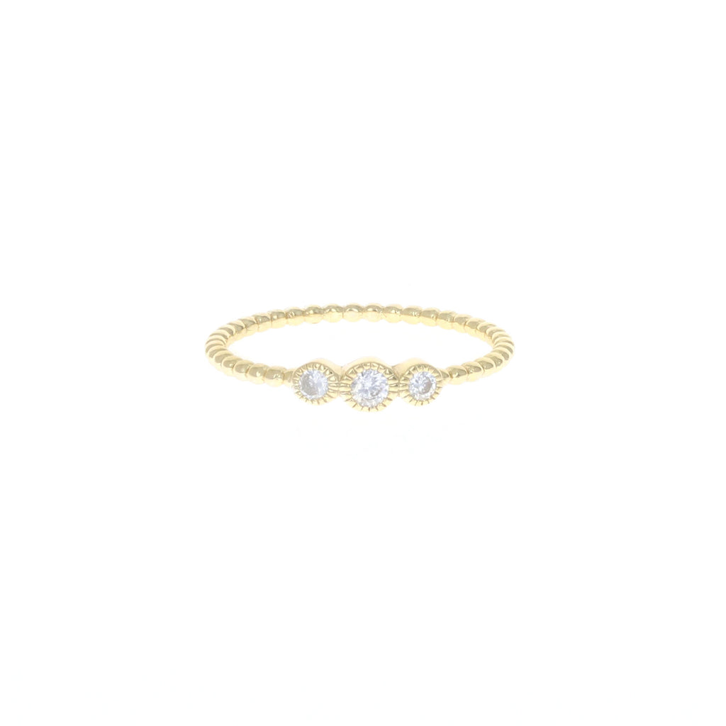 Golden Triple Stacking Ring