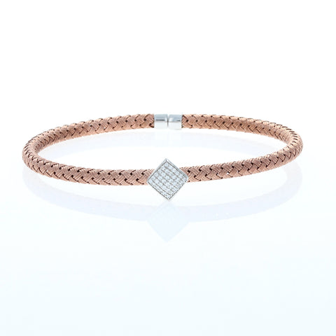 Rose Square Braided Cable Bracelet
