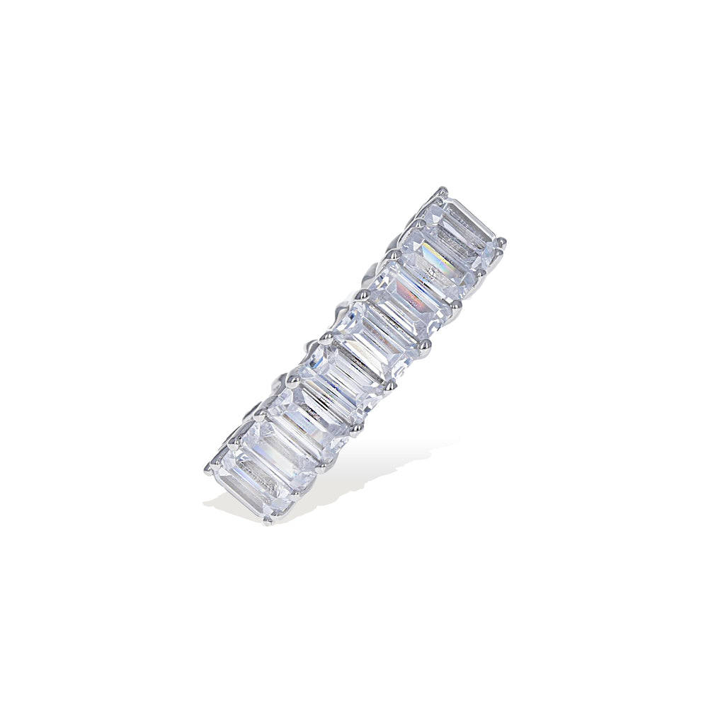 Prong Set 6mm Baguette CZ Eternity Band from Alexandra Marks Jewelry