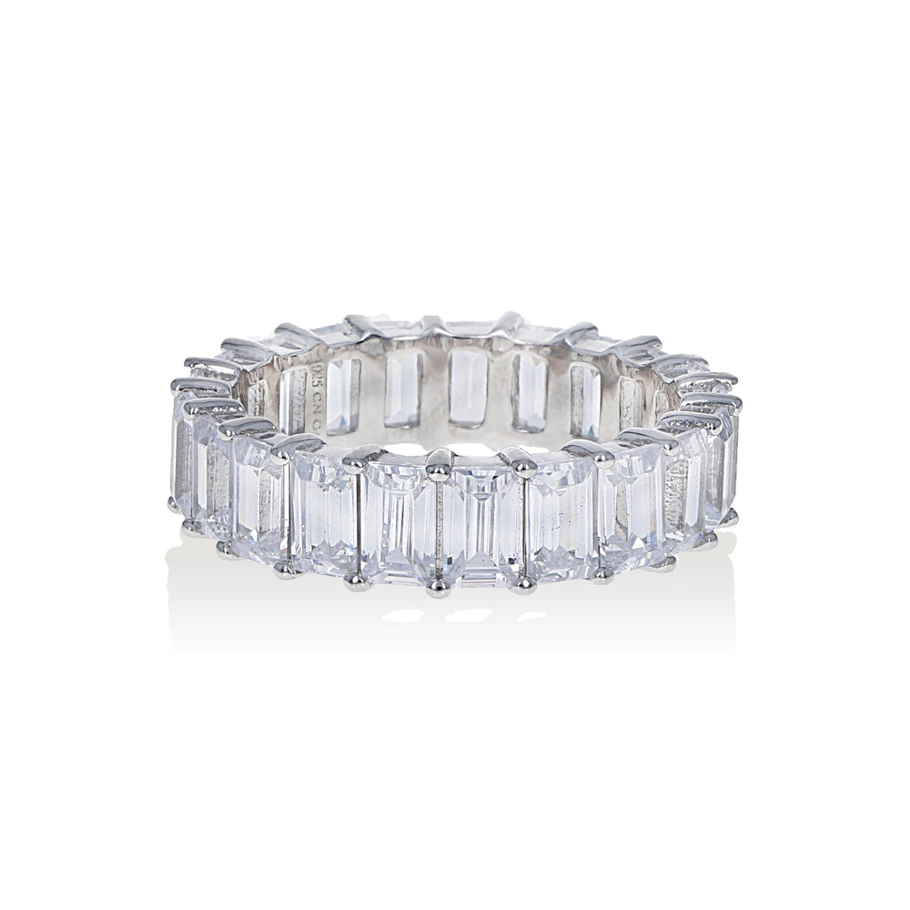 Alexandra Marks | Baguette CZ Eternity Band in Sterling Silver