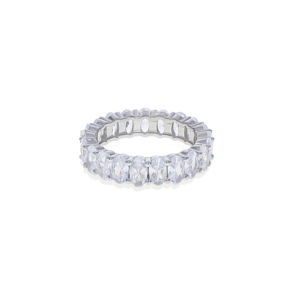 Load image into Gallery viewer, Oval Eternity Band