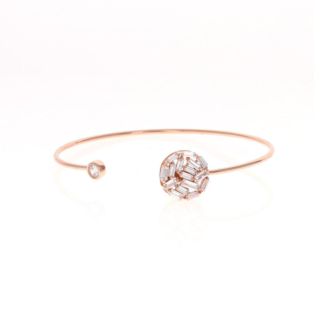 Rose Encircled Baguette Bracelet