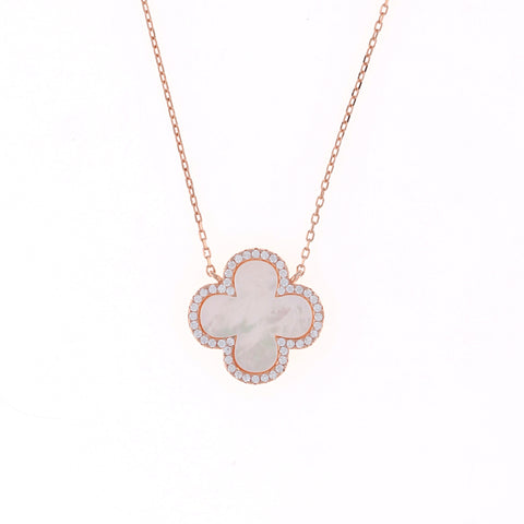 Rose Clover Necklace