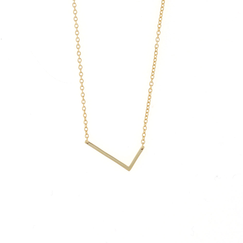 Load image into Gallery viewer, medium capitial L initial necklace, gold