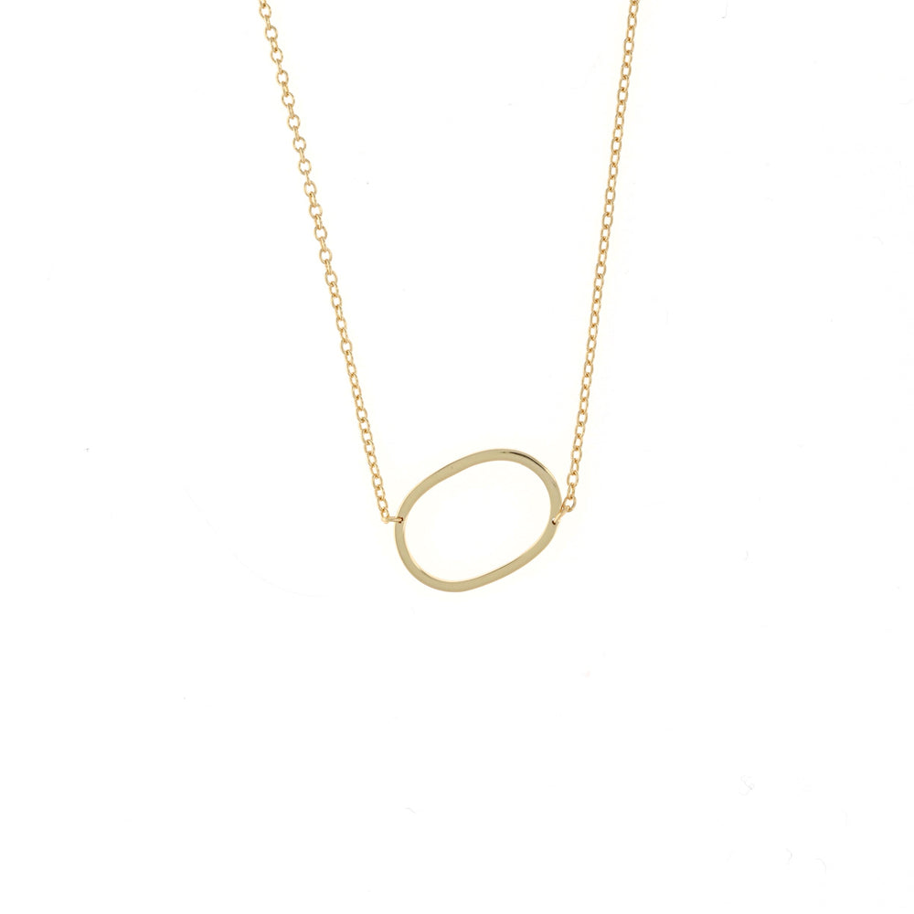 Sideways Personalized Initial Gold Necklace | Alexandra Marks Jewelry