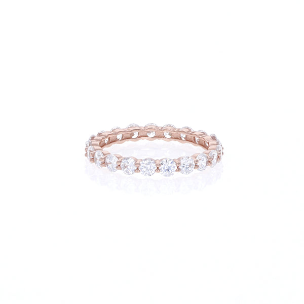 Rose Round Eternity Band