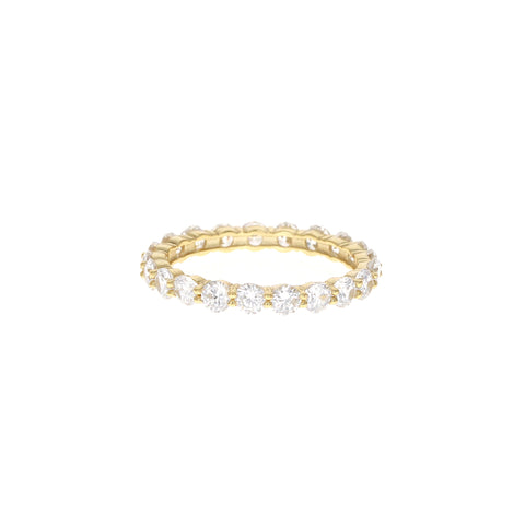 Golden Round Eternity Band