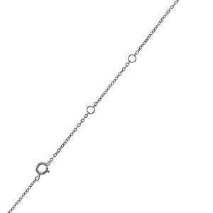 Necklace chain is adjustable at 16, 17 and 18 inches