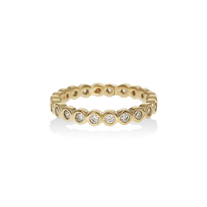 Load image into Gallery viewer, Gold CZ Eternity Band | Alexandra Marks Jewelry