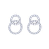 Double Interlocking Circle Studs
