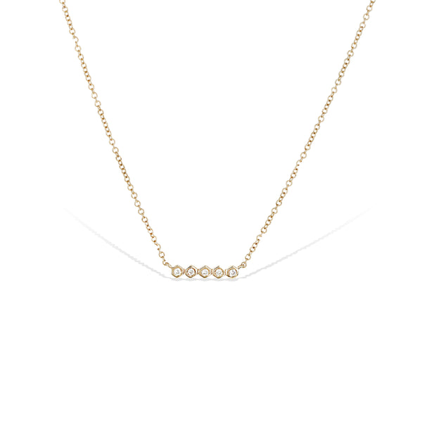 Diamond Bezel Bar Necklace