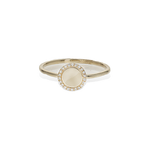 Alexandra Marks - Modern Diamond Halo Ring in 14kt Gold