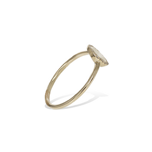 Alexandra Marks - Simple Gold & Diamond Circle Ring