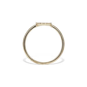 Alexandra Marks - Diamond Circle Ring in Gold