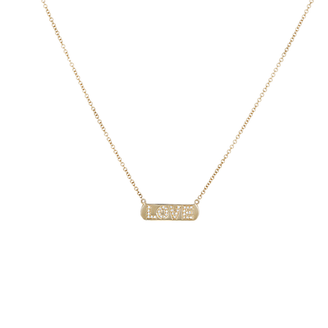 Diamond Love Bar Necklace