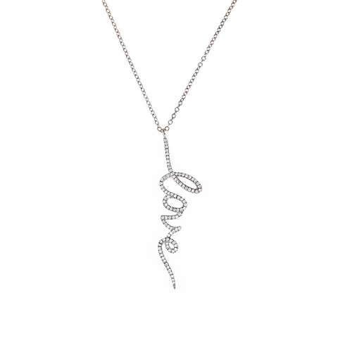 Diamond Love Drop Necklace