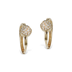 Alexandra Marks - Diamond Disc Gold Huggie Hoop Earrings